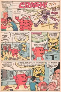 And why does Kool-Aid Man never let go of the pitcher in his hand?