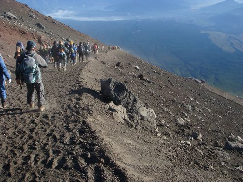 Fuji trail down
