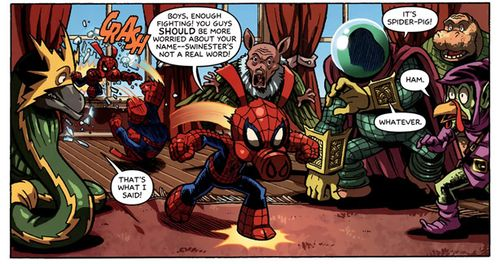 Does whatever a Spider-Pig does...