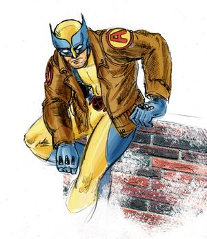 Now sporting the latest of Avengers Jackets-- Wolverine!