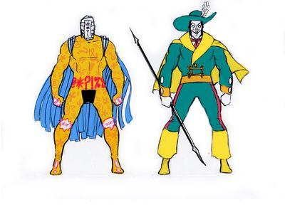 One is a walking censor, the other challenges social convention. Together, they fight crime!
