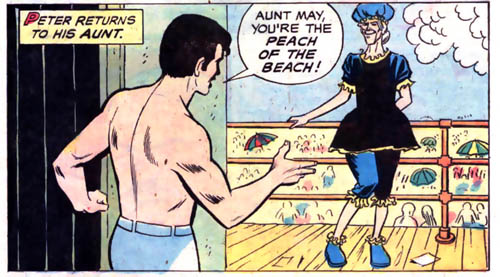 She didn't make the cut for those 1990s' Marvel Swimsuit issues...